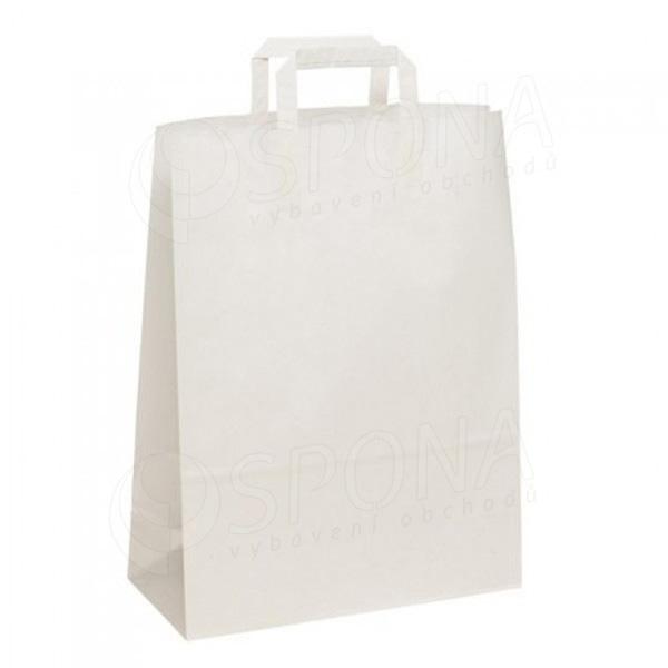Papírová taška BIANCO, 27+12x37 cm, 90 gramů