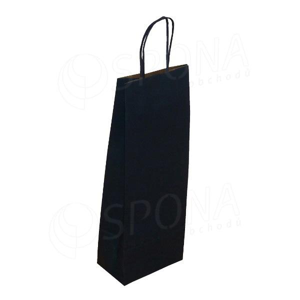 Papírová taška na víno 14 x 9 x 39 cm, modrá navy