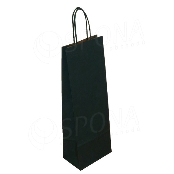 Taška papírová na víno 14 x 9 x 39 cm, tmavě zelená