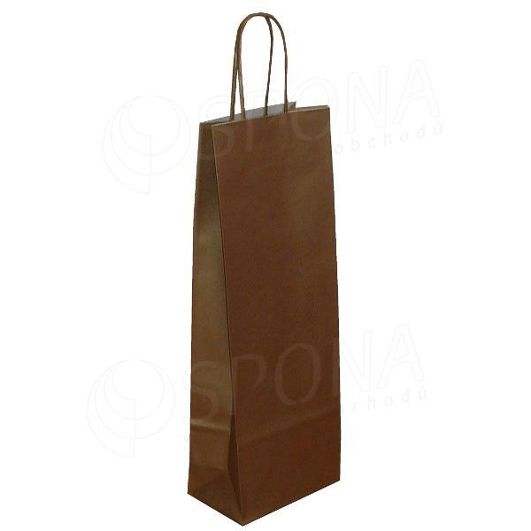 Papírová taška na víno 14 x 9 x 39 cm, zlatá