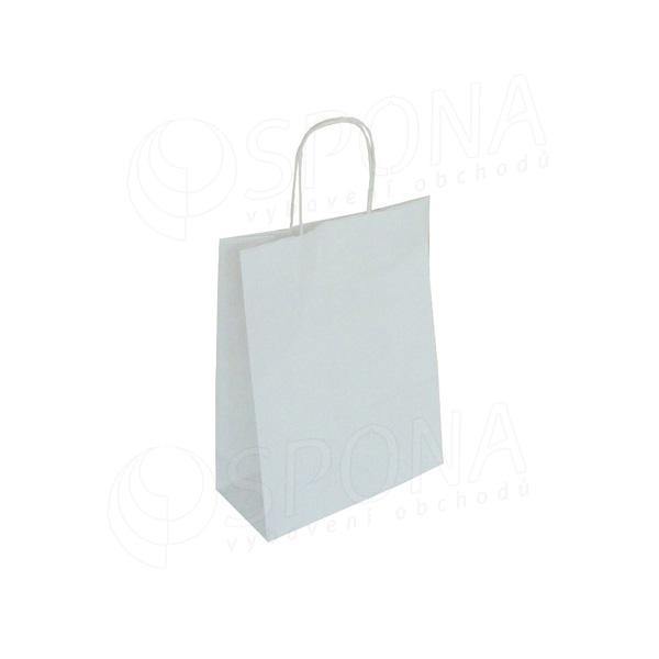 Papírová taška PASTELO, 14+8,5 x 21,5 cm, 100 gr., bílá
