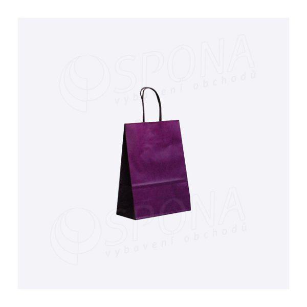 Papírová taška PASTELO, 14 x 8,5 x 21,5 cm, fialová