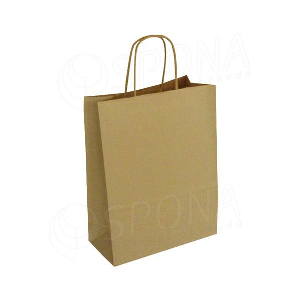 Papírová taška PASTELO, 14+8,5 x 21,5 cm, 100 gr., havana