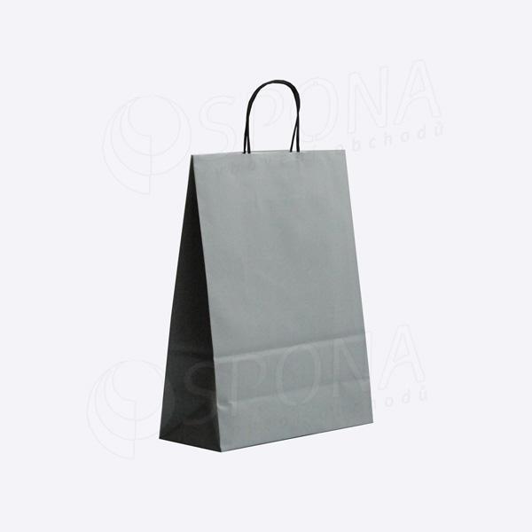 Papírová taška PASTELO, 14+8,5 x 21,5 cm, 100 gr., šedá
