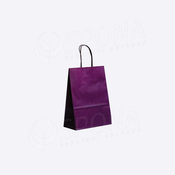 Papírová taška PASTELO, 18 x 8 x 24 cm, fialová