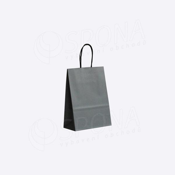 Papírová taška PASTELO, 18 x 8 x 24 cm, šedá
