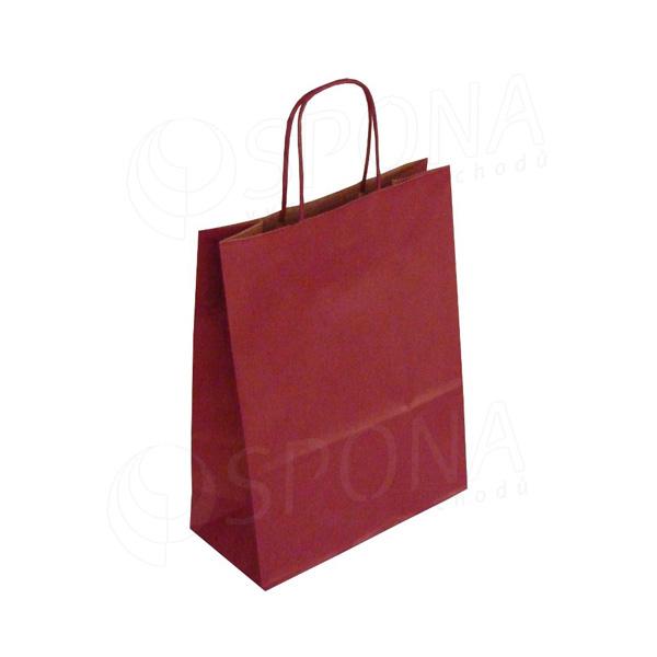 Papírová taška PASTELO, 22+10 x 29 cm, 100 gr., bordó