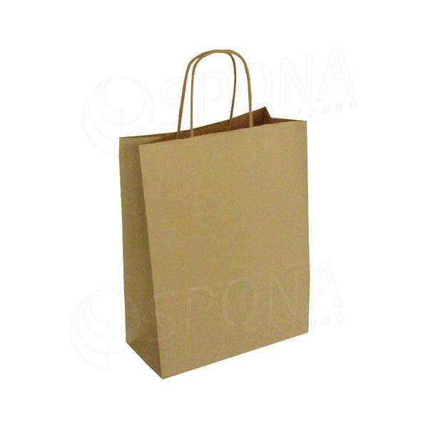 Papírová taška PASTELO, 22+10 x 29 cm, 100 gr., havana
