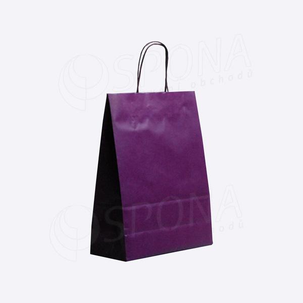 Papírová taška PASTELO, 27 x 12 x 37 cm, fialová