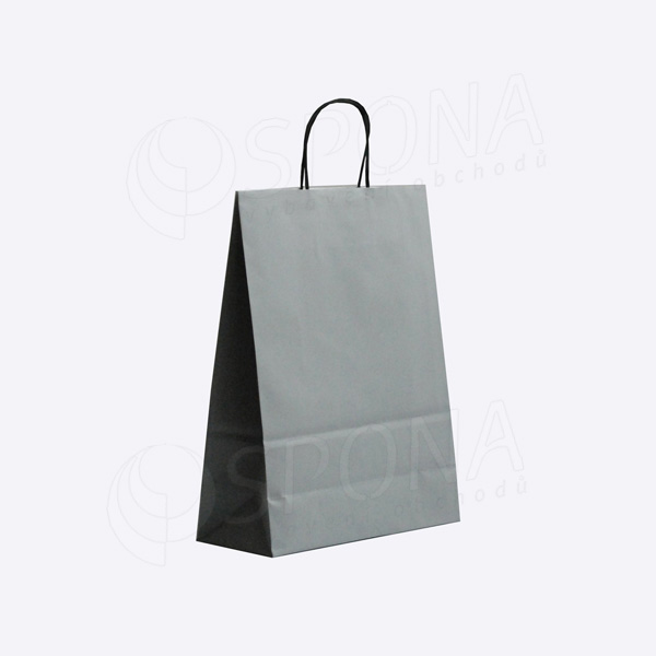 Papírová taška PASTELO, 27 x 12 x 37 cm, šedá