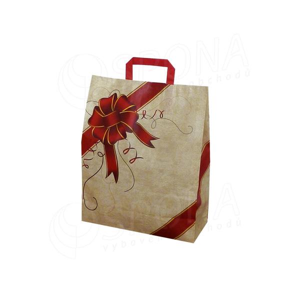 Papírová taška GIFT, 22 + 10 x 29, 80 gr., s dárkovým vzorem