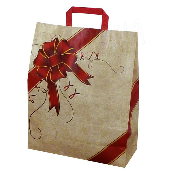Papírová taška GIFT, 45 x 15 x 49 cm, s dárkovým vzorem