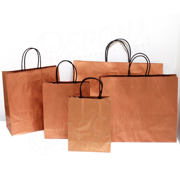 Papírová taška BRONZ, 54+16 x 43+6 cm