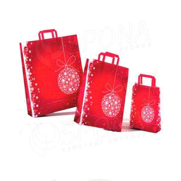 Papírová taška NOEL, 22+10x29 cm, vánoční vzor