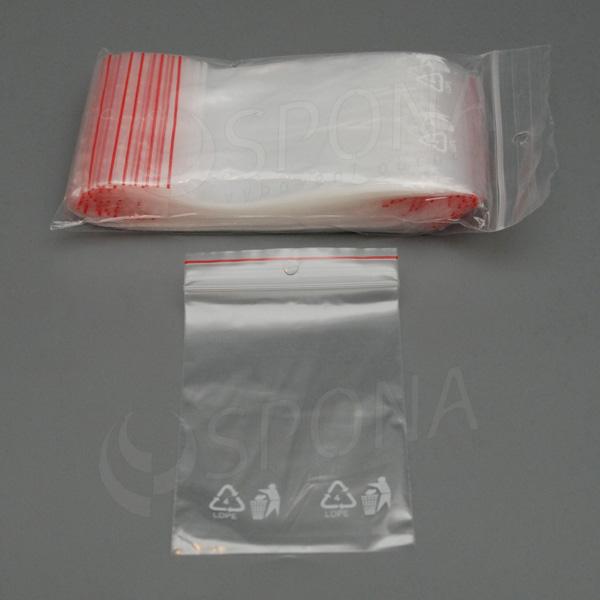 ZIP sáčky 70 x 100 mm, 1.000 ks