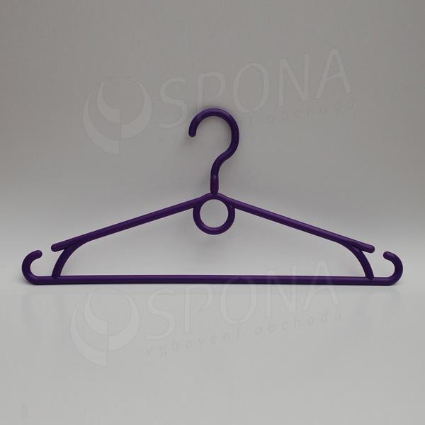 Plastová ramínka, šířka 40 cm, s otočným hákem, fialová