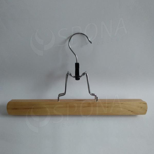 Dřevěná ramínka, skřipce šířka 30 cm