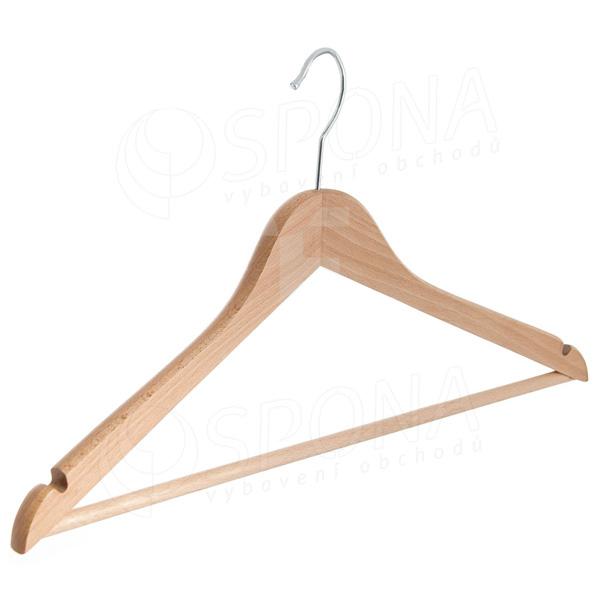 Ramínko dřevěné BASIC, 43 cm, s příčkou, se zářezy