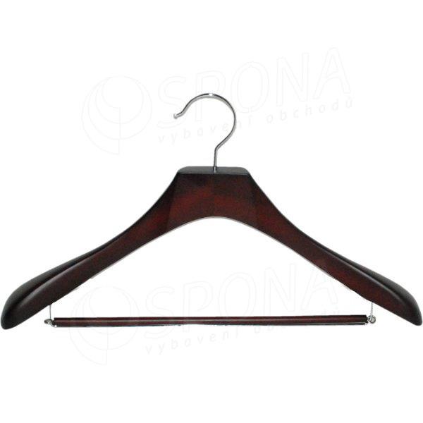 Ramínko dřevěné Deluxe 70P, tmavá třešeň, šířka 45 cm, s příčkou