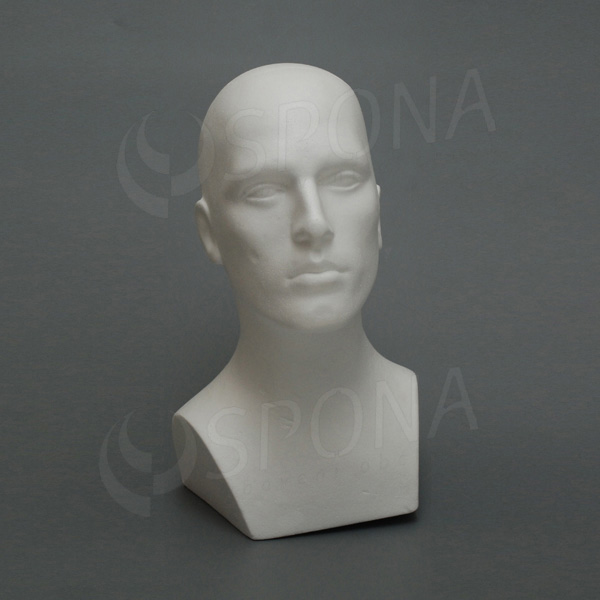 Hlava pánská MARC polystyren, bílá