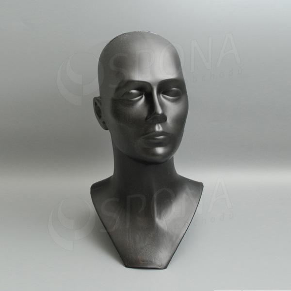 Hlava DITA plastová, černá