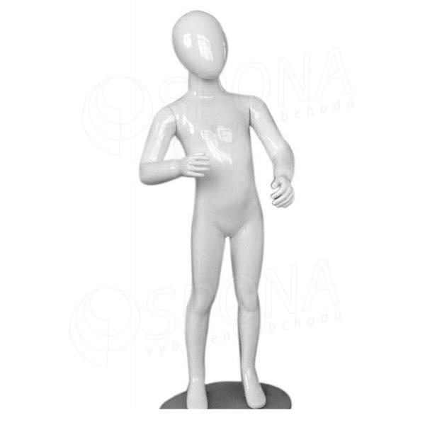 Figurína dětská Portobelle 179, abstraktní lesklá bílá