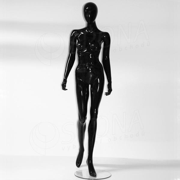 Figurína dámská Portobelle 153C, abstraktní lesklá černá