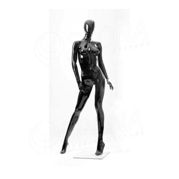 Figurína dámská Portobelle 164G, abstraktní lesklá černá