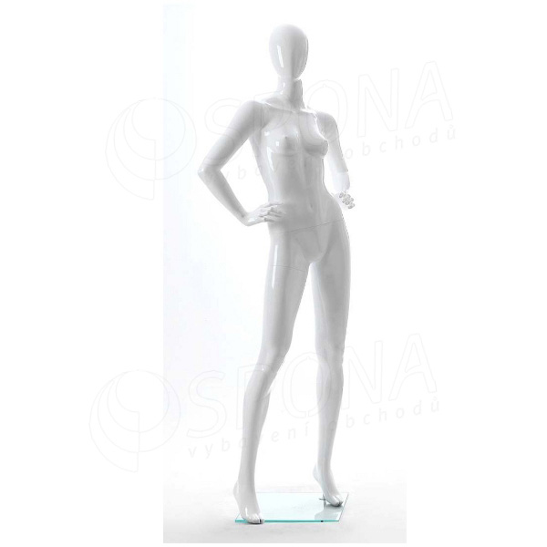 Figurína dámská Portobelle 200G, abstraktní lesklá bílá