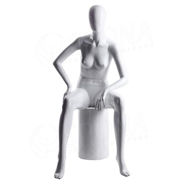 Figurína dámská Portobelle 221B, abstraktní lesklá bílá