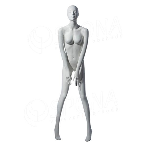 Figurína dámská TINA 305, matná bílá