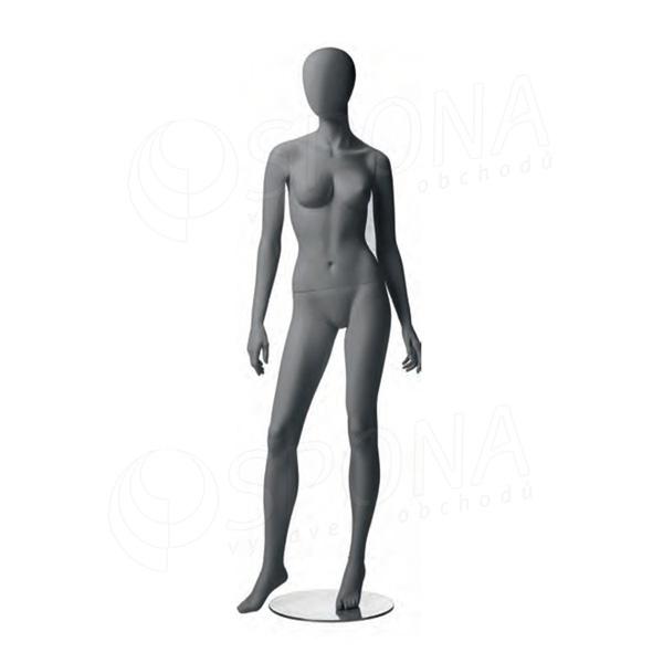 Figurína dámská CITY 02, matná šedá