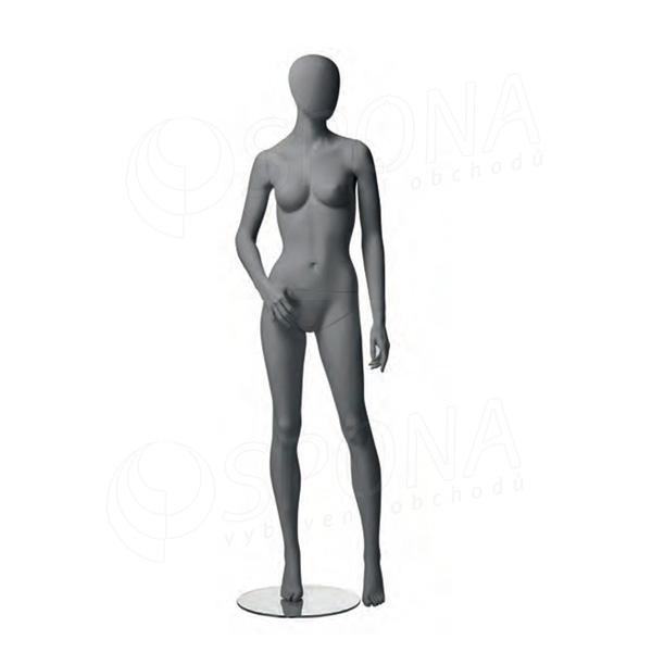 Figurína dámská CITY 05, matná šedá