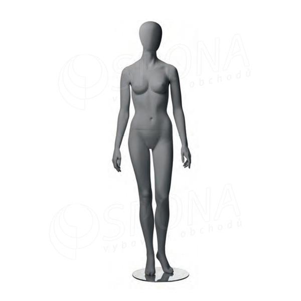 Figurína dámská CITY 01, matná šedá