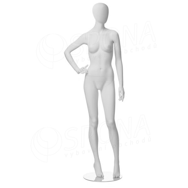 Figurína dámská CITY 03, matná bílá
