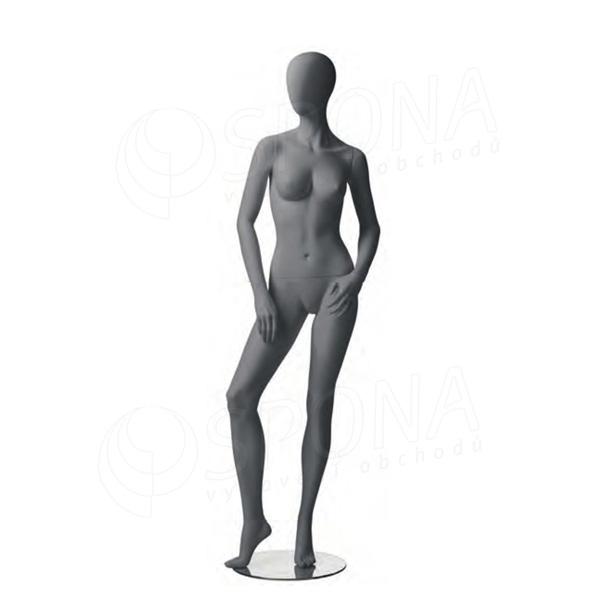 Figurína dámská CITY 04, matná šedá