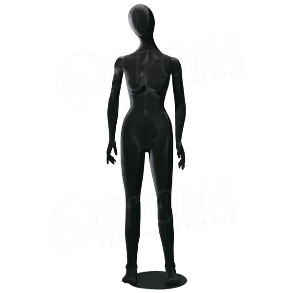 Figurína dámská FLEXIBLE, abstrakt, černá, flokovaná