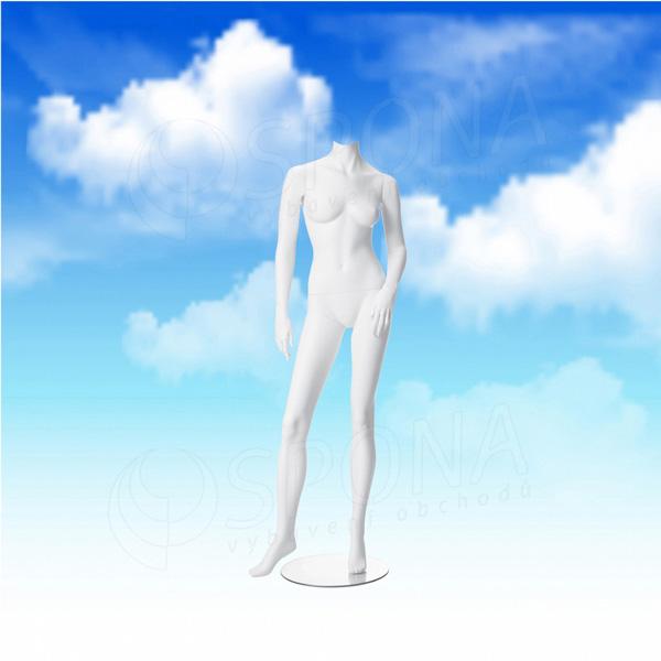 Figurína dámská LIZ 01, bílá matná, bez hlavy