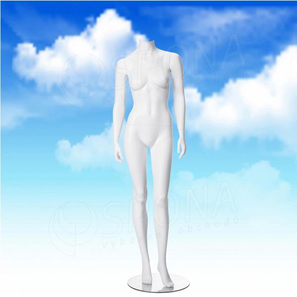 Figurína dámská LIZ 02, bílá matná, bez hlavy