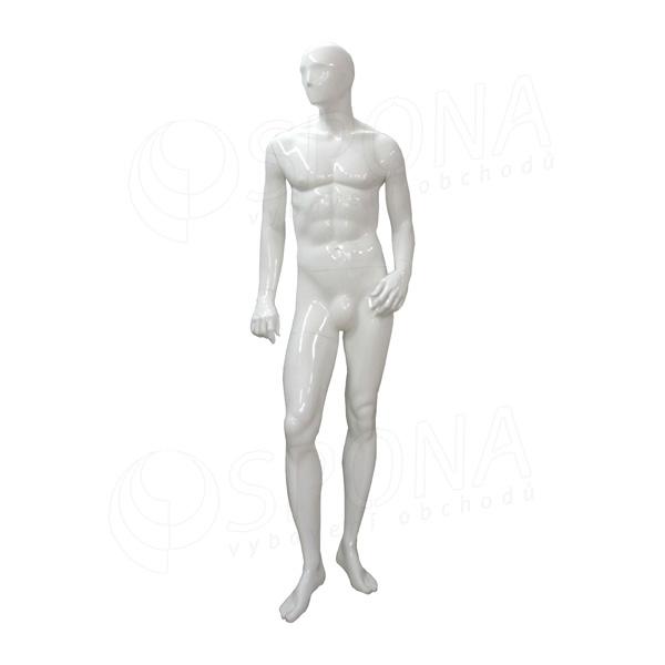 Figurína pánská TREND 01, lesklá bílá