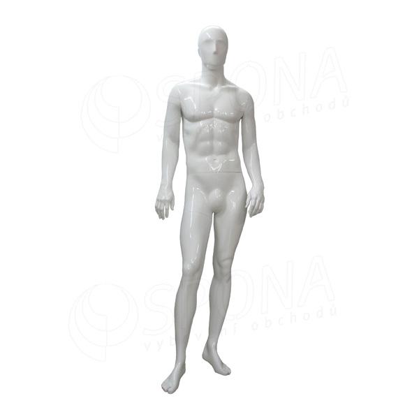 Figurína pánská TREND 03, lesklá bílá