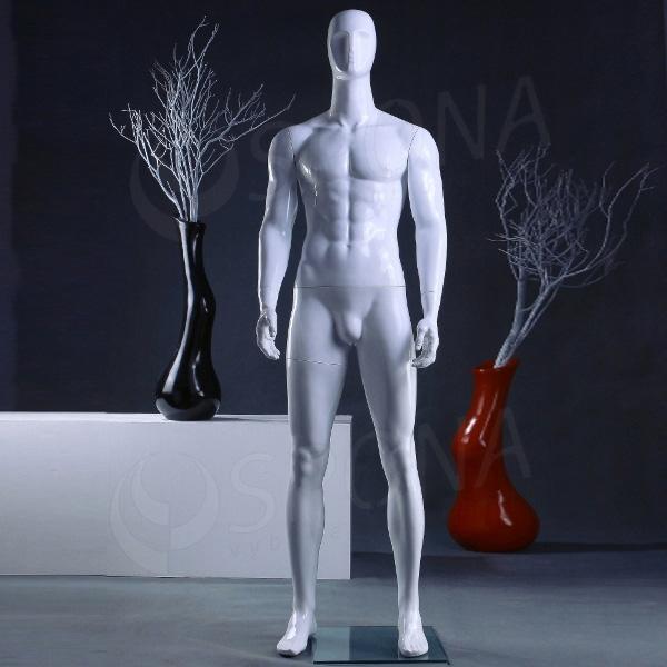Figurína pánská Portobelle 031G, abstraktní lesklá bílá