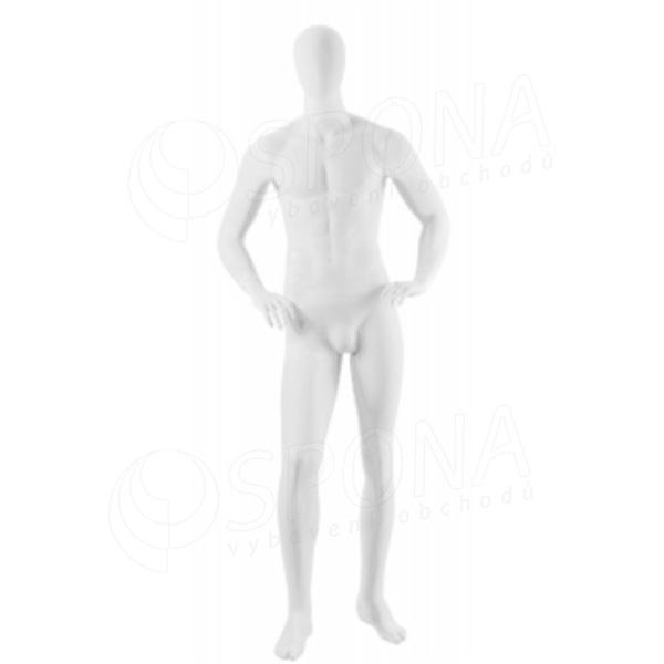 Figurína pánská Portobelle 210B, abstraktní lesklá bílá