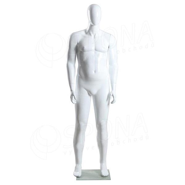 Figurína pánská XXL Portobelle, abstraktní lesklá bílá