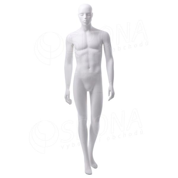 Figurína pánská JAY 303, matná bílá
