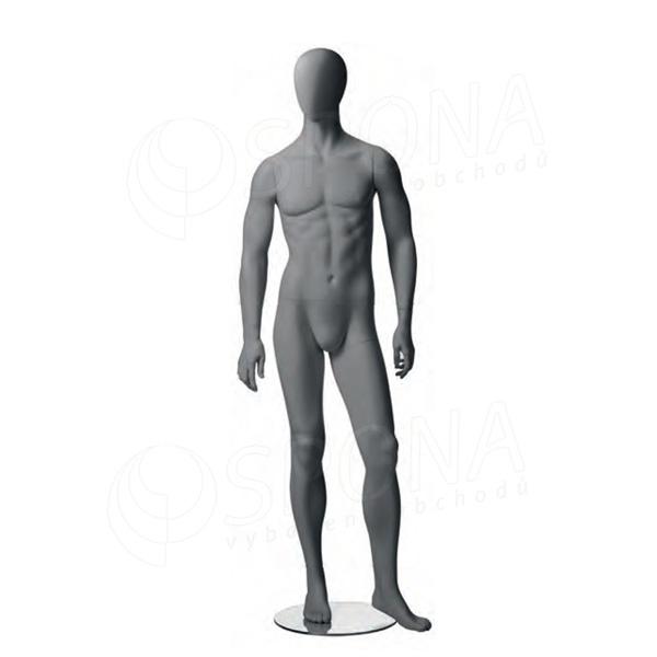 Figurína pánská CITY 02, matná šedá