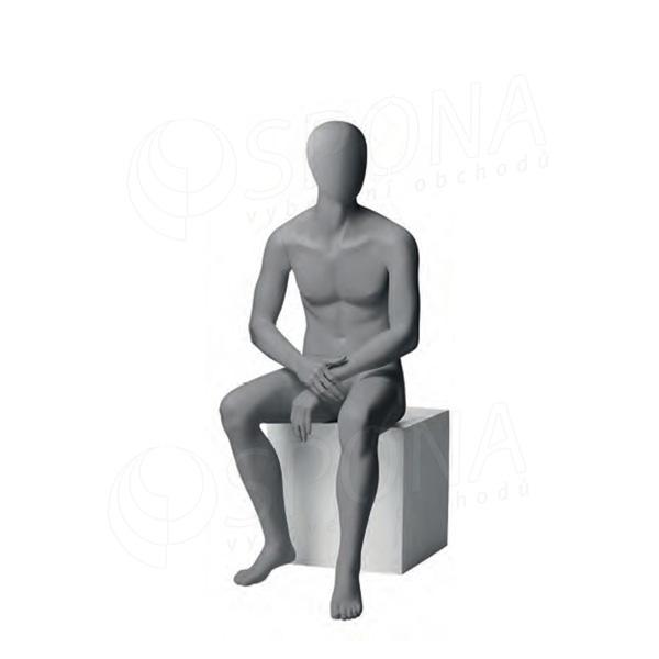 Figurína pánská CITY 06, matná šedá