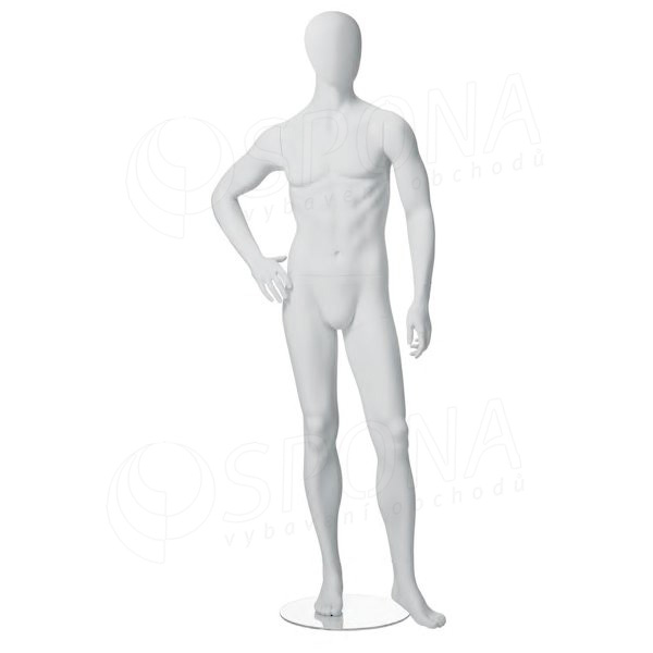 Figurína pánská CITY 04, matná bílá
