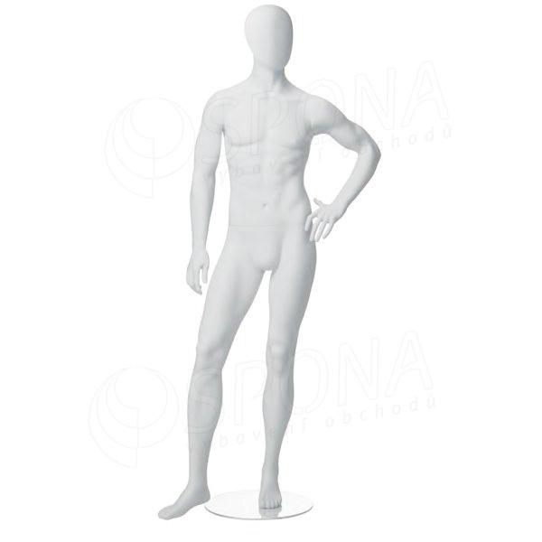 Figurína pánská CITY 05, matná bílá