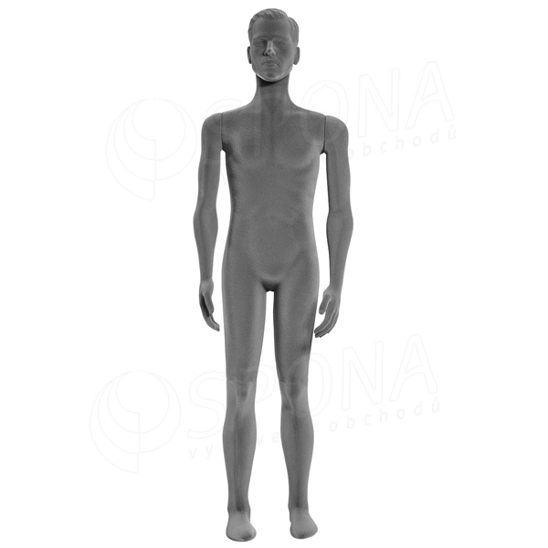 Figurína pánská FLEXIBLE, prolis, šedá, plast